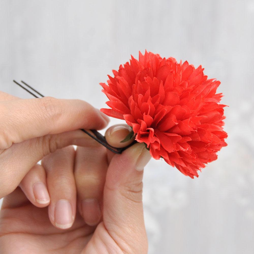 お花の角度が変えられる